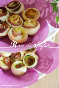 Rose di sfoglia con speck&patate e cotto&zucchine - Roses with speck&potatoes and ham&zucchini