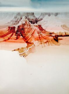 "Watercolor ""Untitled Landscape Watercolor by Michael Atkinson Watercolor Landscape, Watercolor Paintings, Desert Sunset, Artist At Work, Art For Sale, Art Pieces, Landscapes, Sculptures, Alcohol"