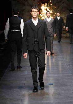 DOLCE & GABBANA men's winter Milan 2014 #4daboyz  #delortaeagency #designer #luxury #authentic #D #style #fashion #fashionweek #runway #Milan #men