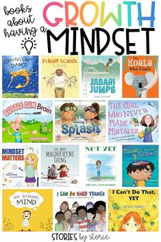 Here are some of my favorite growth mindset books for kids to help start a conversation about taking risks, dealing with failure, and having persistence through it all. reading Growth Mindset Books for Kids Growth Mindset Book, Growth Mindset For Kids, Growth Mindset Classroom, Growth Mindset Activities, Bulletins, Social Emotional Learning, Teaching Social Skills, Teaching Ideas, Tips & Tricks