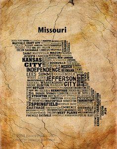 Cities of MISSOURI State Missouri So cool!