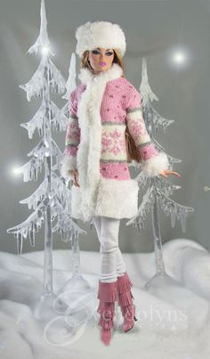 For Inspiration - Coat with faux fur trim; made from a sock.