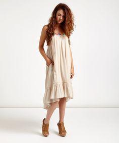 Love this Cream Yarndye Stripe Dress by Free People on #zulily! #zulilyfinds