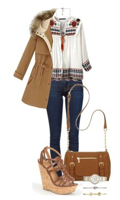 """""""Untitled #341"""" by mercedes-designs on Polyvore featuring Frame Denim, Vero Moda, New Directions, Delicious and FOSSIL"""