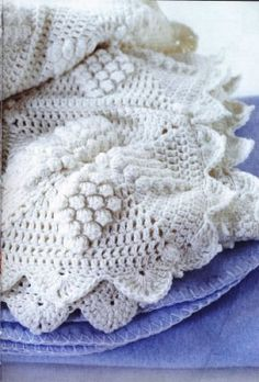 Crochet White Star Blanket w/ diagram