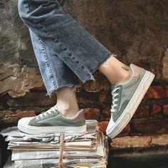 Women's #green casual shoe #sneaker texture stripe design Adidas Sneakers, Shoes Sneakers, Green Shoes, Shoe Shop, Stripes Design, Lace Up Shoes, Casual Shoes, Running Shoes, Vans