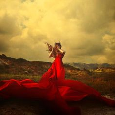 The Red Dress blowin in the wind...