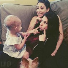 Diana: SO ME AND BEX ADOPTED AN ADORABLE LITTLE GIRL. I'M HAPPY! Our daughter's name is Cecilia Beth Taylor-Green