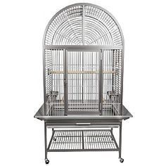 Product ID: REVOLUTIONARY NEW ALUMINUM CAGES. This Aluminum cages will outlast any powder coated cage on the market. 4 Swing out feeder doors with 4 stainless steel Inside Height from bottom grill to inside top of cage. Parrot Perch, Parrot Bird, Monk Parakeet, Senegal Parrot, King Cage, Bird Cages, Parrot Cages, Amazon Parrot, African Grey Parrot