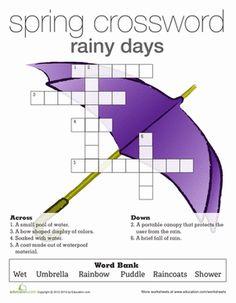 Spring Crossword Puzzle | Animals, Crossword and Baby animals