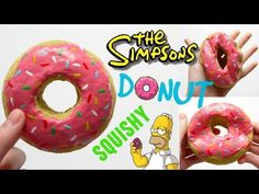 DIY SIMPSONS DONUT SQUISHY ~ Homemade Squishy Tutorial - YouTube