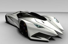 The stunning Lamborghini Ferruccio Concept By Mark Hostler white car