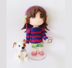 Cake Topper Girl and Dog by CustomShape on Etsy