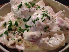 13 bombajó majonézes saláta karácsonyra | Mindmegette.hu My Recipes, Recipies, Cold Dishes, Nigella, Potato Salad, Bacon, Food And Drink, Chicken, Cooking