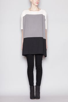 grayscale colorblocking