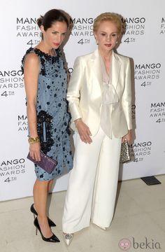 Carolina Adriana and Carolina Herrera Mango Awards Spain 2012