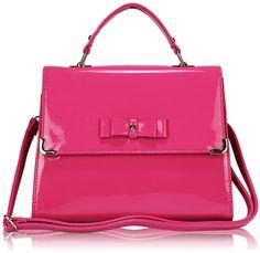 Pink Patent Satchel, £21.99