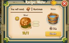 Water Recipe 1