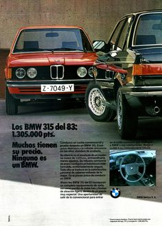 BMW 315 (E21) adv Bmw E21, E30, Bmw Series, Series 3, Bmw Classic Cars, Classic Auto, Bmw Vintage, Bmw Alpina, Automobile
