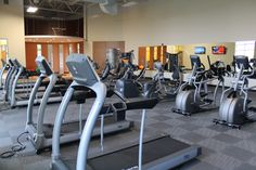 That's a lot of equipment in the fitness center!