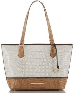 d611670b56bf Medium Asher Tote in Cream and Tan by Brahim