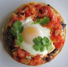 """Huevos Rancheros recipe is in the second cookbook that I published, """"Frankly The Best"""".  This recipe came from our guests from Guatamaula."""