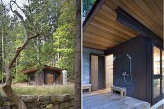 Office/Studio   Olson Kundig's Single-Room Gulf Islands Cabin is a Minimalist Retreat in British Columbia