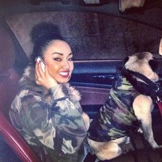 LITTLE MIX'S LEIGH ANNE AND HER PUG