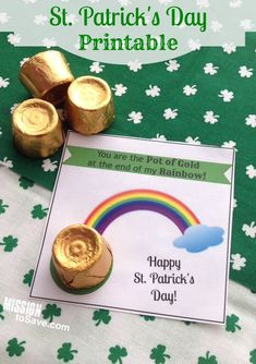Get these FREE, You are the Pot of Gold St. Patrick's Day Printable Tags. Very cute for a simple DIY classroom gift idea.