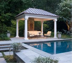 Standing Seam Copper Gazebo Roof
