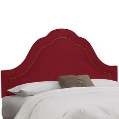 Skyline Furniture Velvet Berry Arch Nail Button Headboard