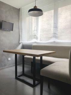 Diseño perfecto para combinar con bancos. Estructura de hierro 4x4cm y tablero de 4,2cm de grosor Dining Bench, Furniture, Home Decor, Dining Room Furniture, Wood Tables, House Decorations, Kitchen Booths, Banks, Board