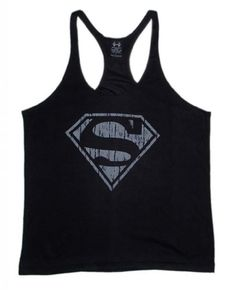 "Black Friday Superman ""S"" Logo Men's Workout Tank Top Stringer Shirt Gold's Gym Large Black from Superman ""S"" Logo Cyber Monday"