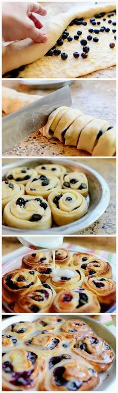 Best Food Cloud: Blueberry Lemon Sweet Rolls---obvi switching out the blueberries. i made these and they turned out perfect! Just Desserts, Delicious Desserts, Dessert Recipes, Yummy Food, Baking Desserts, Small Desserts, Healthy Food, Yummy Treats, Sweet Treats