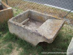 Stone laundry trough