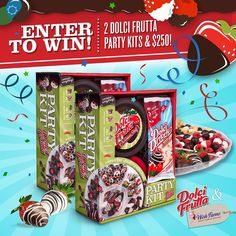This New Years Eve lets throw the sweetest party ever!  Post a group selfie of you and the people youd like to celebrate with plus the hashtags #SweetestPartyEver and #Sweeps for a chance to win 2 Dolci Frutta Party Kits and a $250 @wishfarms VISA gift ca
