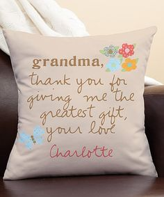 Loving this 'Grandma Thank You' Personalized Pillow on #zulily! #zulilyfinds
