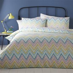 Linen House Feather Ikat Single Duvet Cover Set