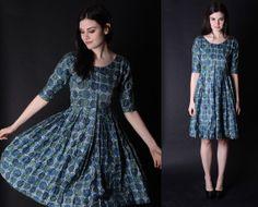 Vintage 50s Dress  1950s Dresses  50s Dresses   by aiseirigh, $132.00