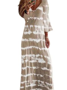 [picked up from Walmart] Free 2-day shipping. Buy Women Casual Long Sleeve Tie-dye Gradient Print Dress V Neck Loose Maxi Dress Ladies Casaul Boho Beach Sundress Plus Size S-5XL at Walmart.com Buy It Now !
