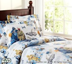 Star Wars™: The Empire Strikes Back™ Duvet Cover #PotteryBarnKids  GJP room one bunk