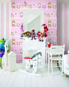 Candy shop & stripes wallpapers
