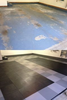 Before and After Pics of TrueLock Garage Flooring Tiles! #GarageFlooring