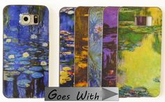 CELLPHONE FASHION - Clear Flexible Bumper Cover plus 6 Different Inserts - for Samsung Galaxy S6 - Monet Waterlilies - SET 14