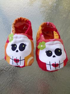sugar skull baby cloth shoes by courageousinc on Etsy