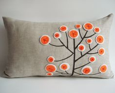 Sukan / couverture de Original coussin motif Pen - 12 x 20 pouces - Beige, noir, Orange, couleur blanc
