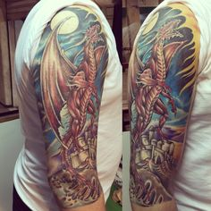 Dragon tattoo by Bruno Mattos  #brunomattostattoo @brunomattostattoo insta