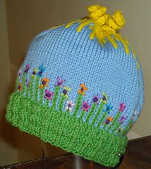 Aunt Barbie's garden hat pattern on Ravelry. Kids and adult sizes. $5.00 Matching child pattern available too.