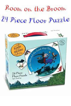 This amazing Room on the Broom floor puzzle is a perfect game for a rainy day! Get the little ones learning about puzzles, and fine-tuning those motor skills, in a fun and interactive way!