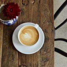 Hello September! We welcome you with pretty latte art! ☕  #welcomeseptember #hellofall #goodbuyesummer2015 #loveseptember